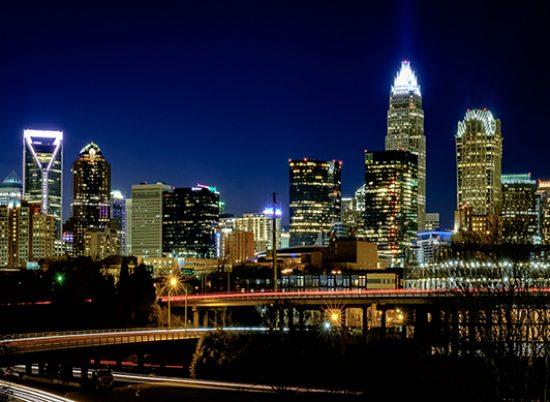 Charlotte, North Caroline Skyline at Night